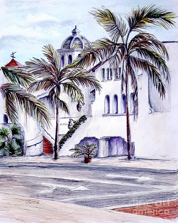 On the streets of Santa Barbara by Danuta Bennett