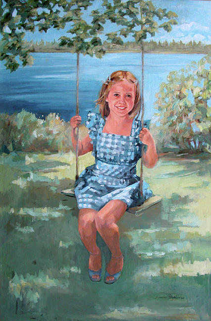 On the swing by Synnove Pettersen