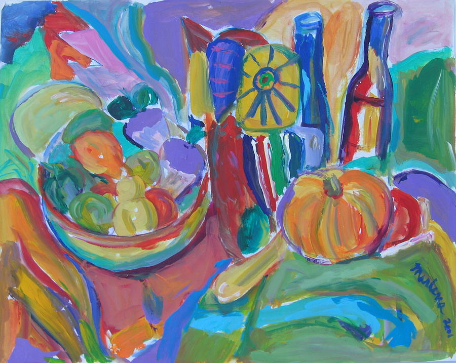 Still Life Painting - On The Table by Marlene Robbins