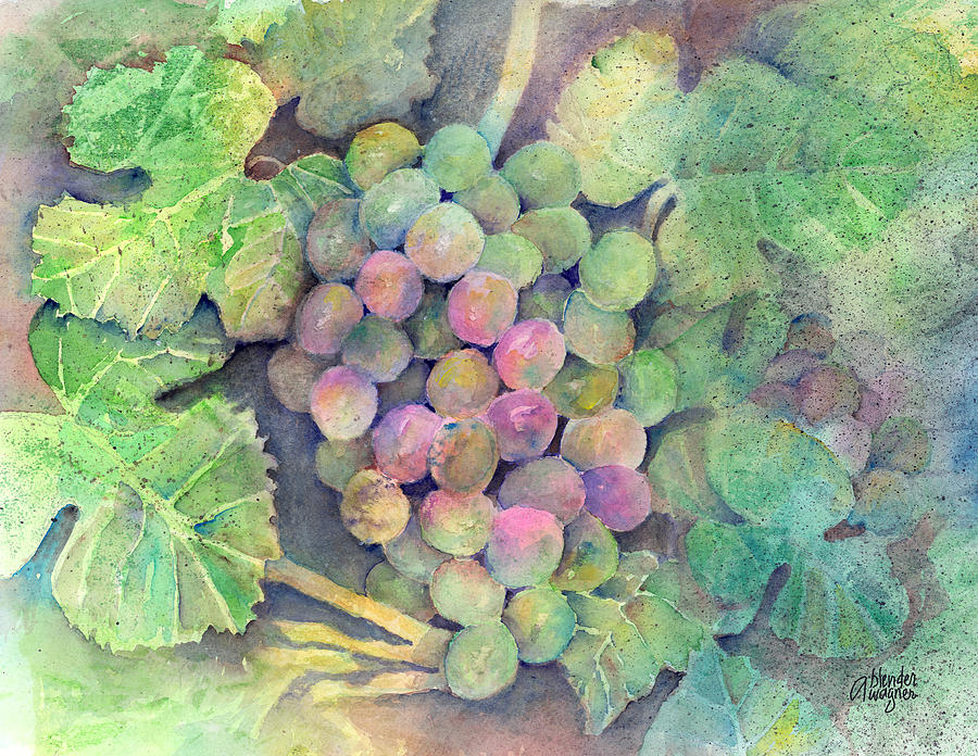 Grape Painting - On The Vine by Arline Wagner