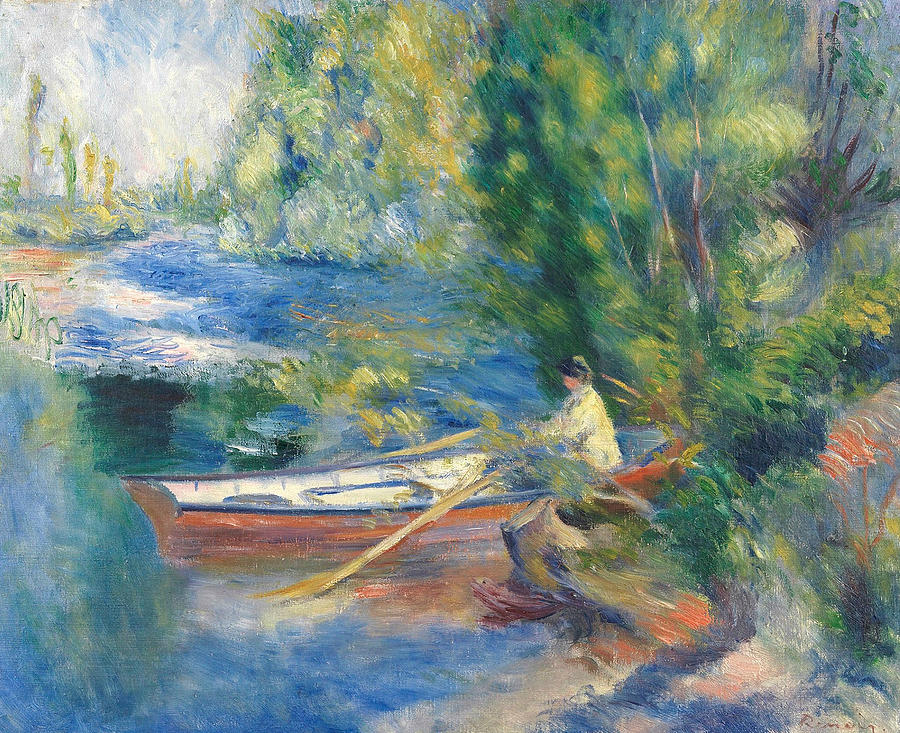 French Painters Painting - On The Waterfront by Auguste Renoir