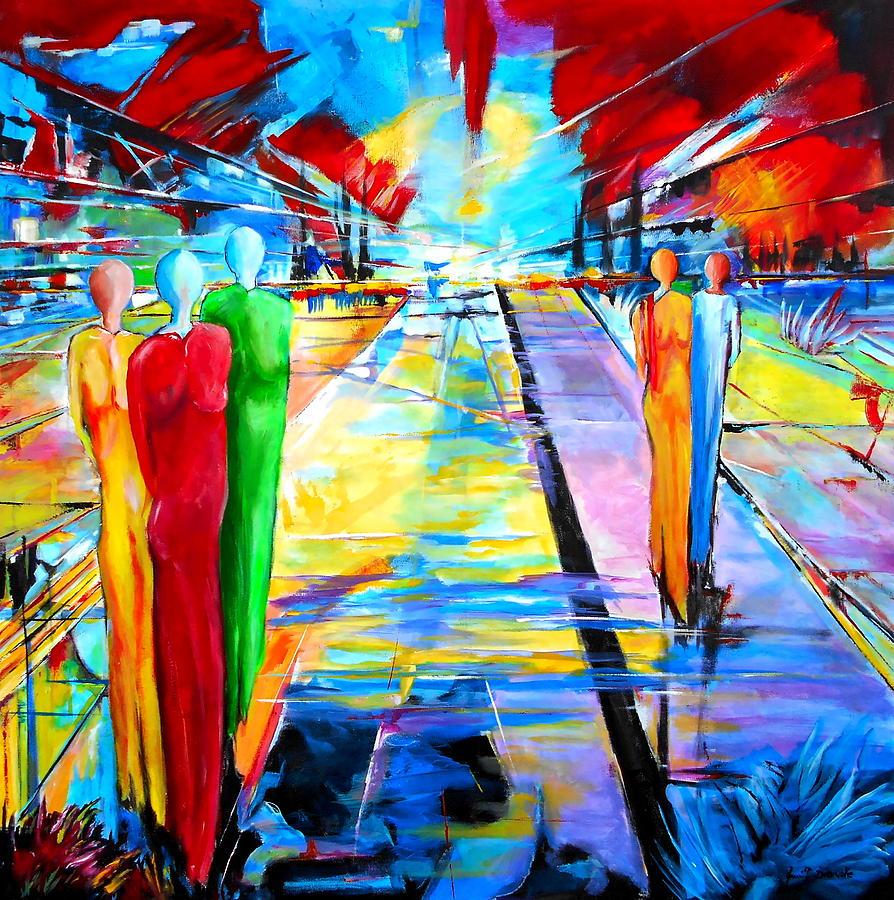 Landscape Painting - On The Way by Eberhard Schmidt-Dranske