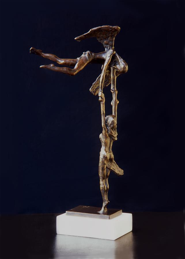 Figurative Sculpture - On The Way To Heaven by Leonardo Pereznieto