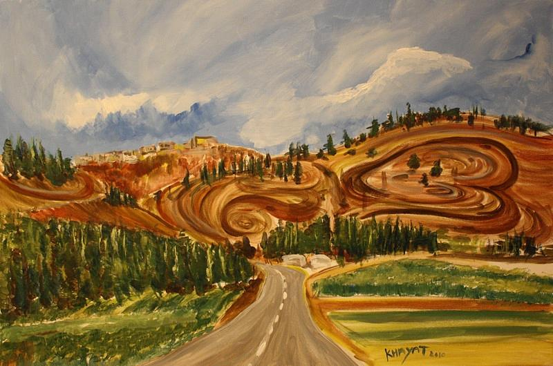On The Way To Nazareth Painting by Marwan  Khayat