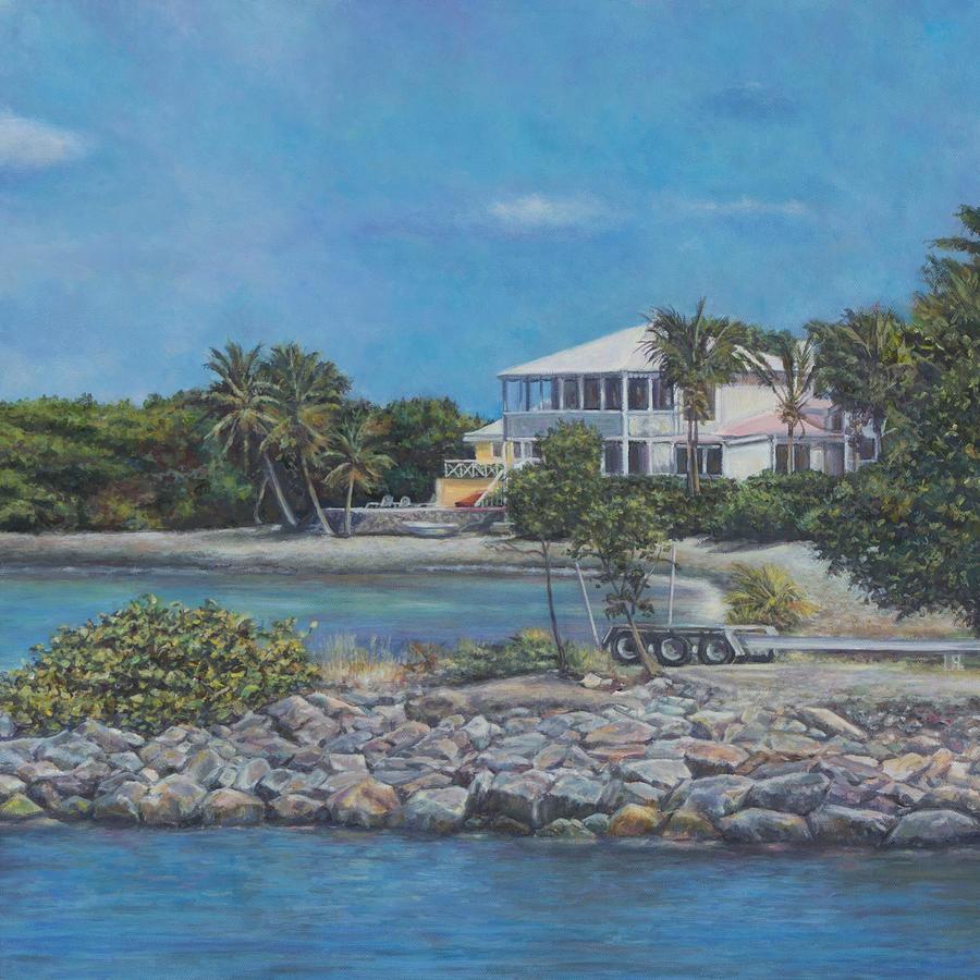 Virgin Islands Painting - On The Way To St. John by David P Zippi