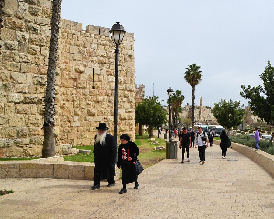 On the Way to The Jaffa Gate-Old City Jerusalem by Alex Vishnevsky