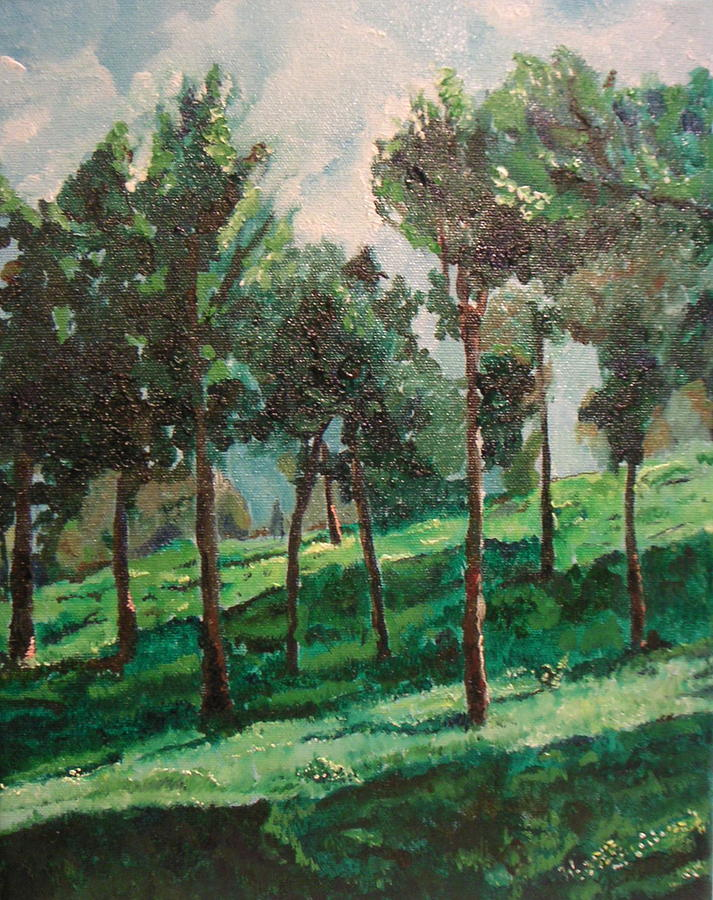 Landscape Painting - On The Way To Tzfat by Marwan  Khayat