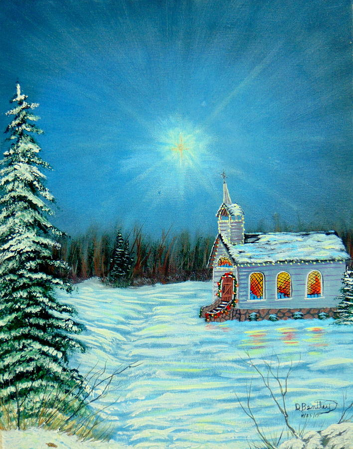 Seasonal Painting - On This Night by David Bentley