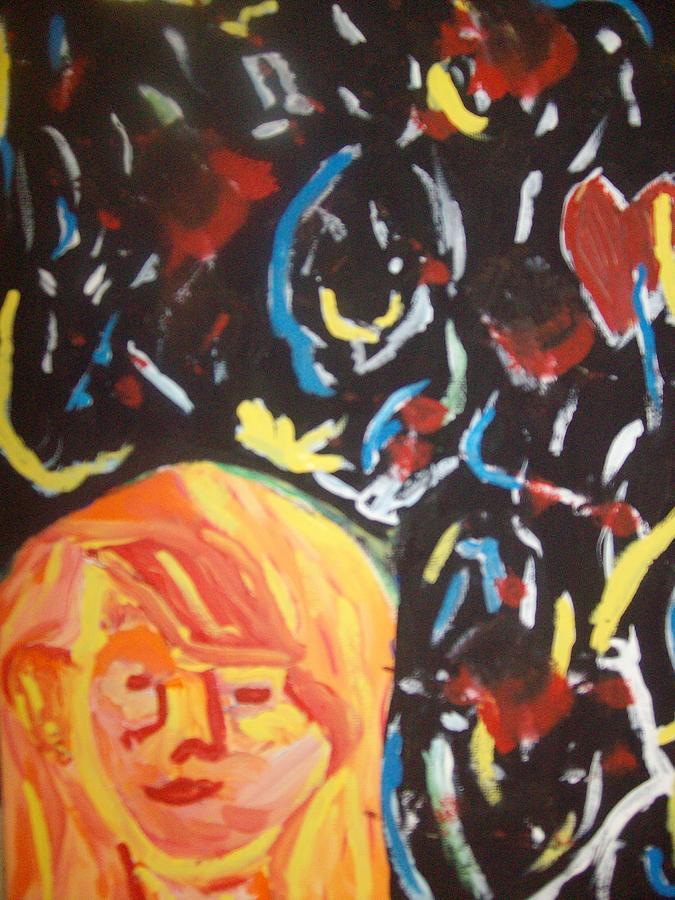 Girl Painting - On This Sleepless Night by Samantha  Gilbert