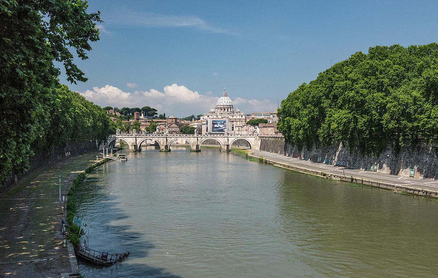 Castel Sant'angelo Photograph - On To The  Tyrrhenian Sea by Joseph Yarbrough