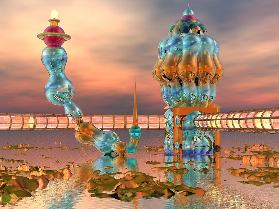 Landscape Digital Art - On Vacation by Dave Martsolf