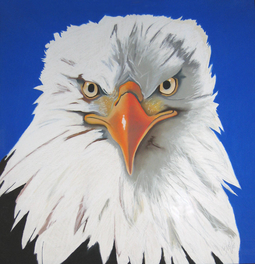 Birds Painting - On Watch by Brenda Wolf