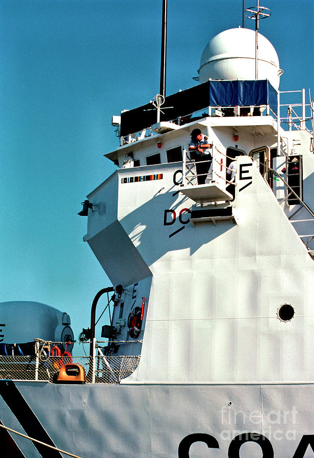 Us Coast Guard Photograph - On Watch by Thomas R Fletcher