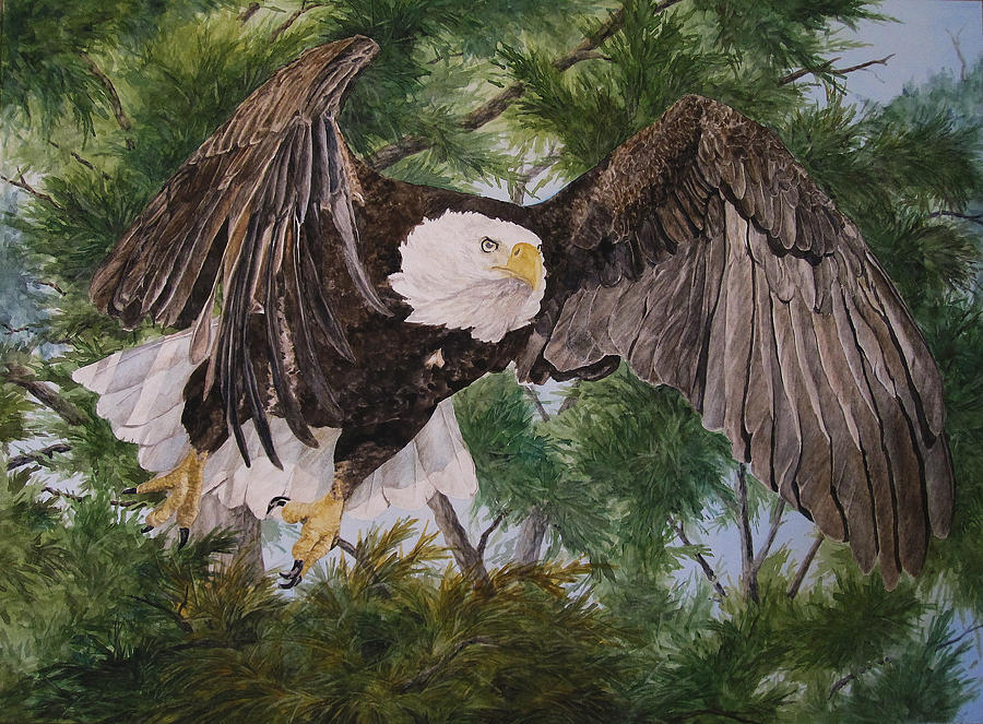 Bird Painting - On Wings Like Eagles by Theresa Higby-LEP Available