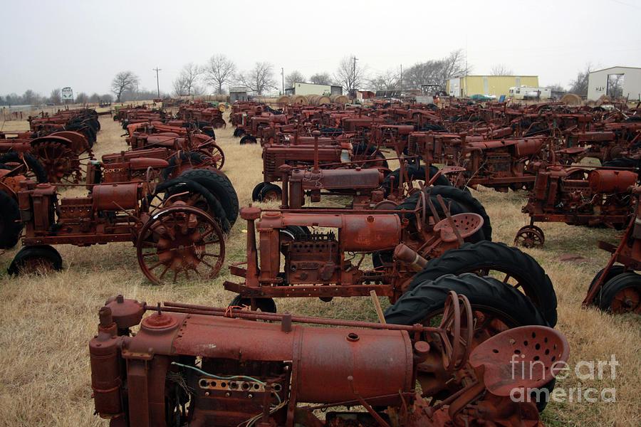 Tractors Photograph - On Your Mark by Joy Tudor