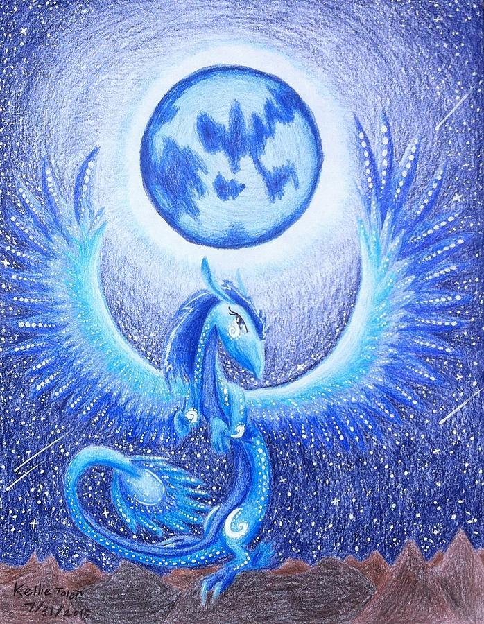 Dragon And Moon Art Drawing