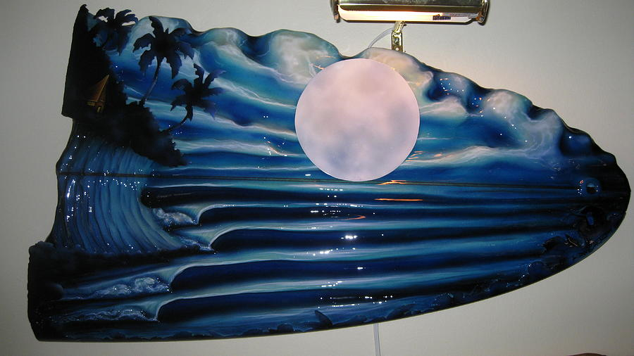Surf Sculpture - Once In A Blue Moon by Ronnie Jackson