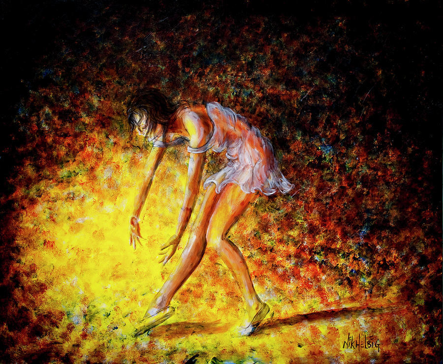 Dancer Painting - Once In A Lifetime Iv by Nik Helbig