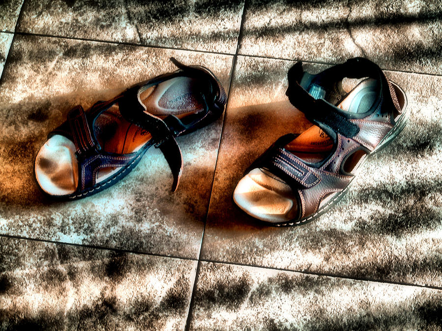 Shoes Photograph - Once Stood Here by Jimmy Ostgard