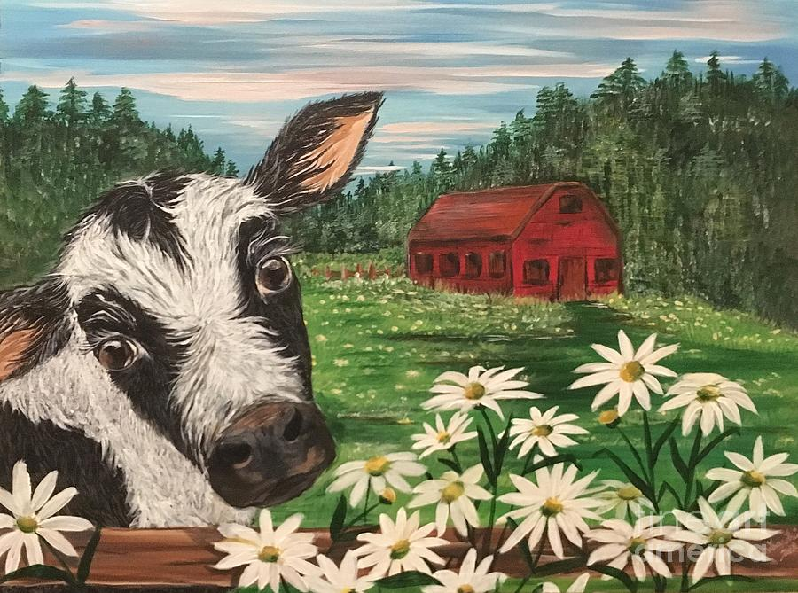 Once Upon A Farm Painting by Tracy Thring