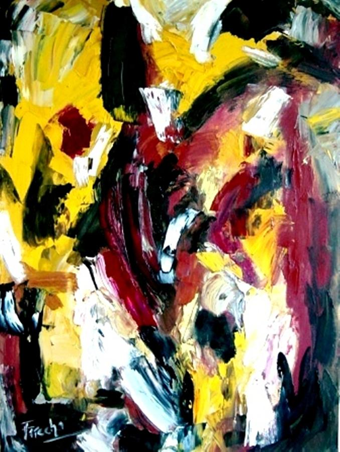 Abstract Painting - Once Upon A Summer Time by Fareeha Khawaja