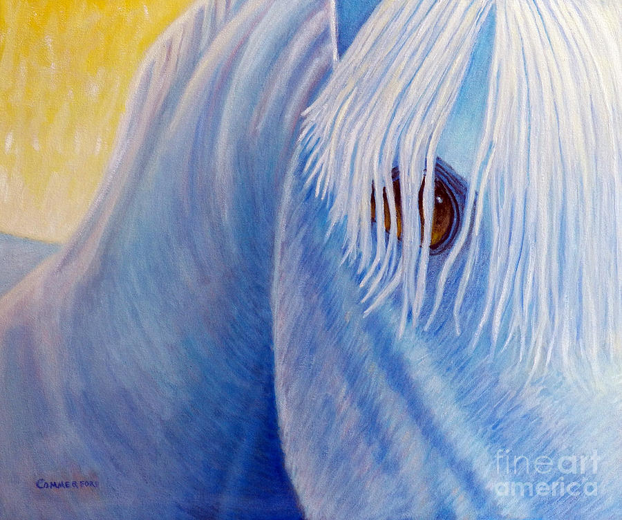 Horse Painting - Once Upon A Time by Brian  Commerford