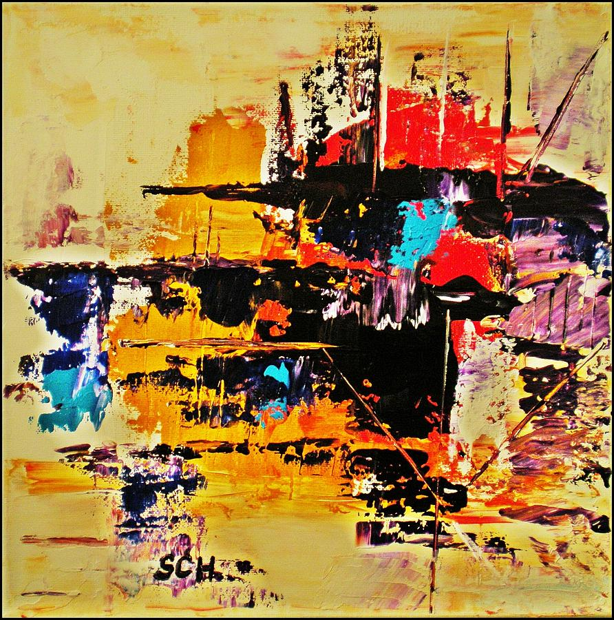 Abstract Mixed Media - Once Upon A Time In The West by Scott Haley