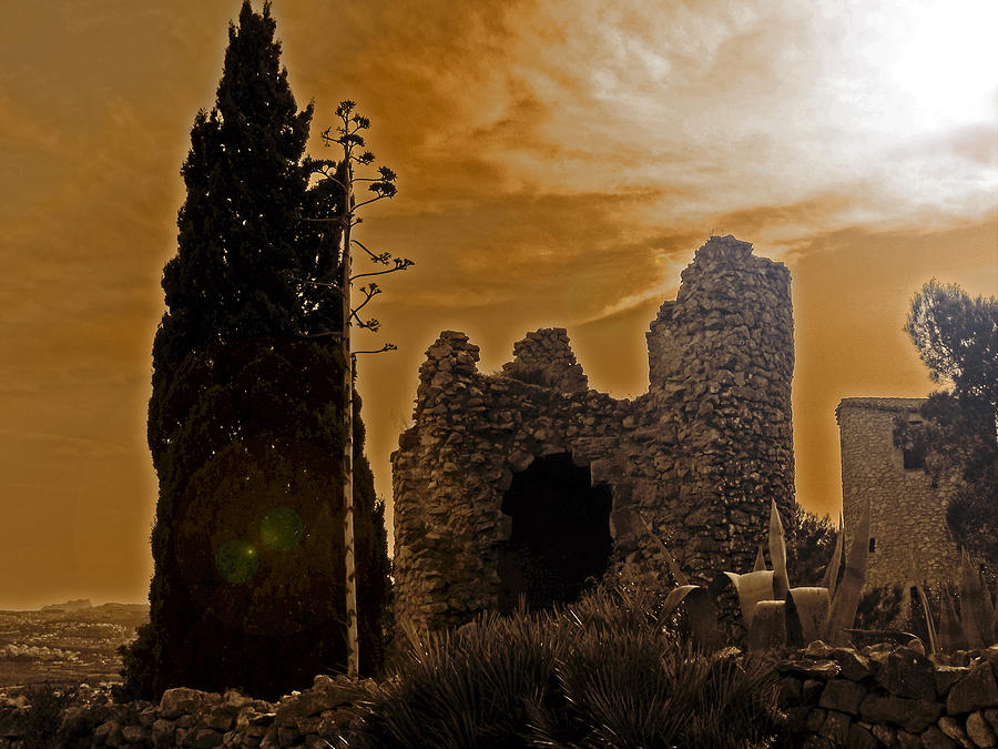 Ruin Photograph - Once Upon A Time by Ingrid Dance