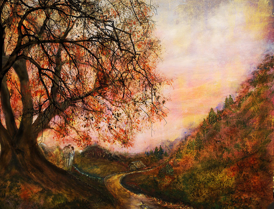 Couple Mixed Media - Once Upon October by Patricia Motley