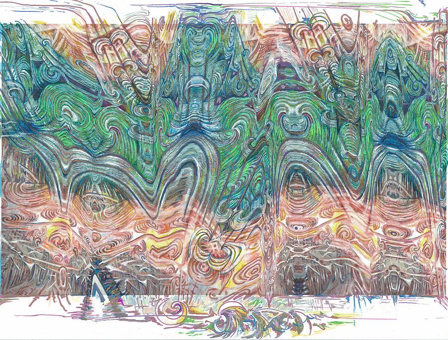Waves Drawing - Ondas by Jeremy Robinson