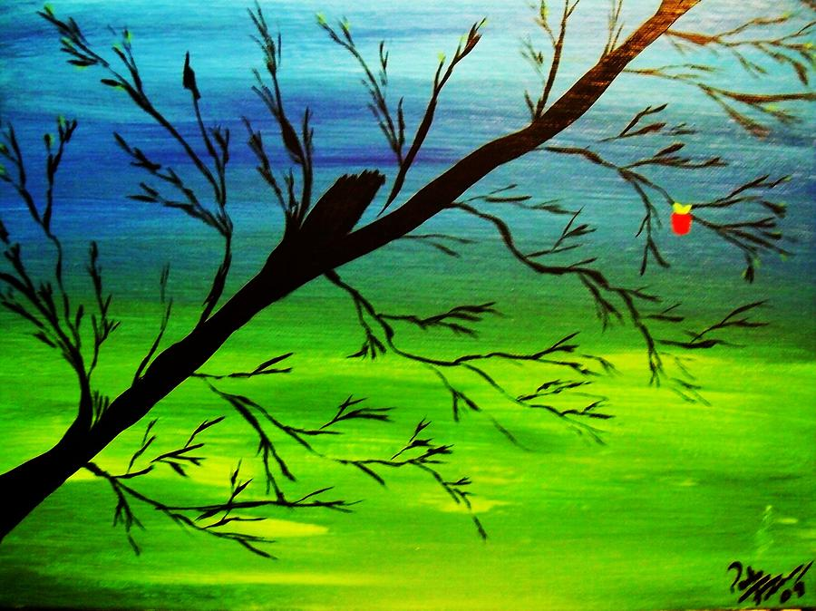 Tree Painting - One Alive by Paula Ferguson