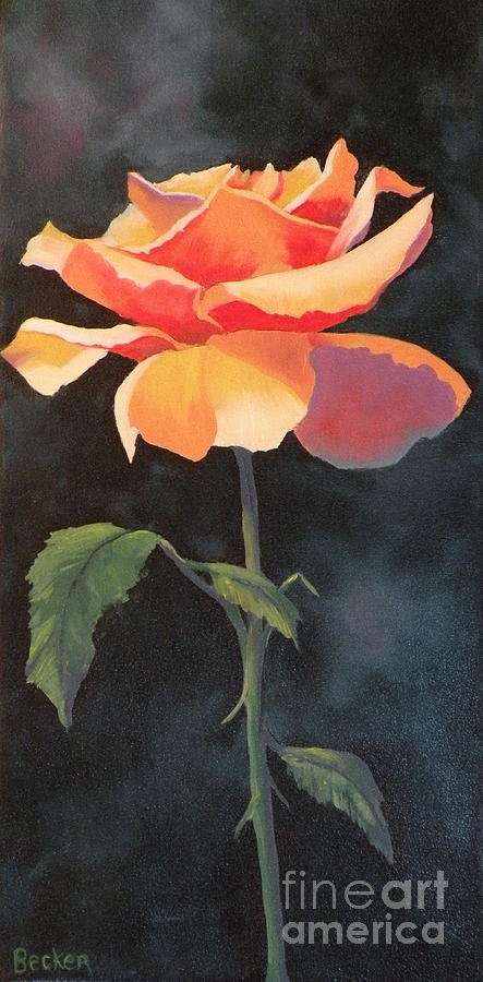 Rose Painting - One And Only by Susan A Becker