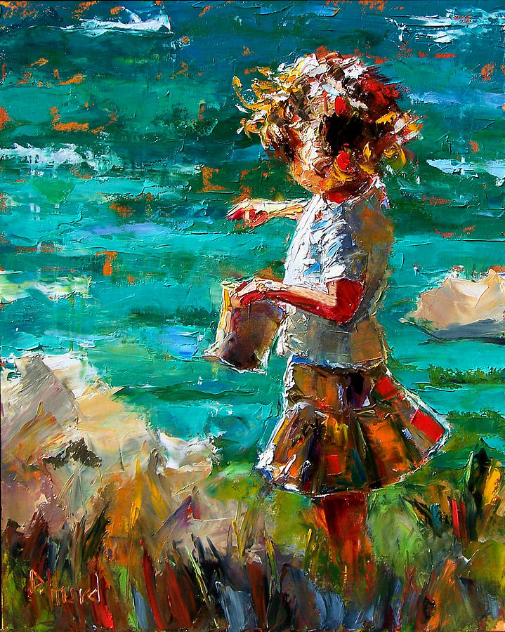 Children Painting - One At A Time by Debra Hurd