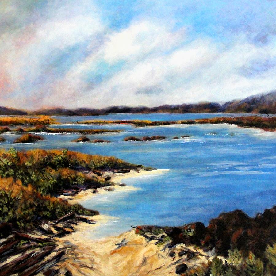 Long Beach Painting - One Beach Washington by Marti Green