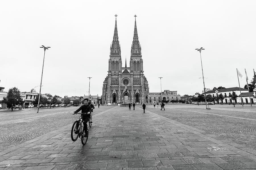 One Big Religious Wheelie. Photograph