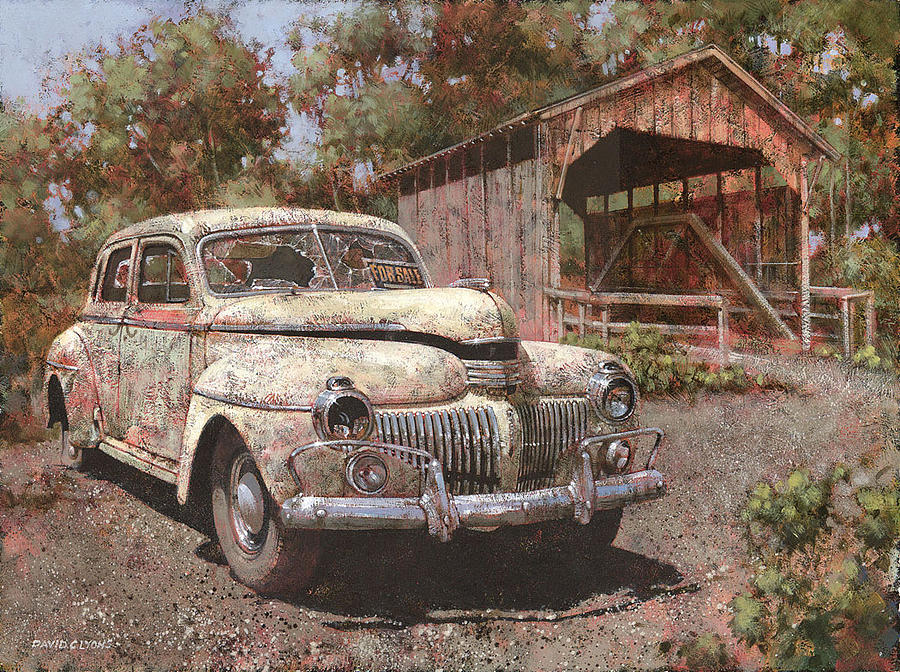 Dodge Painting - One Careful Owner by David Lyons
