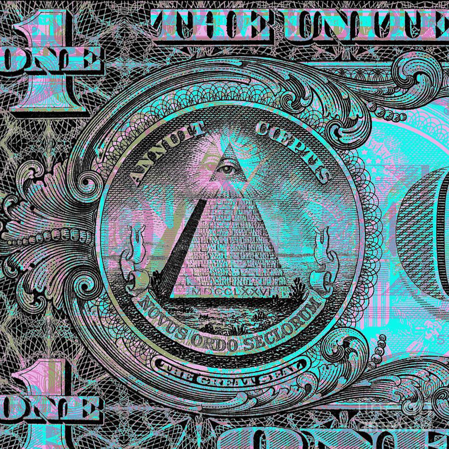 One-dollar-bill - $1 - Reverse Side Digital Art