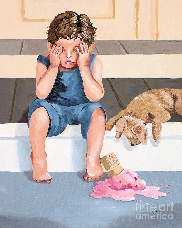 Boy Painting - One Door Closes One Door Opens by Jennifer  Donald