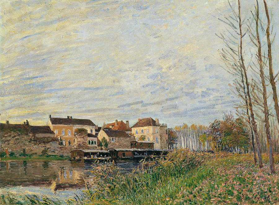 Alfred Sisley Painting - One Evening At Moret End Of October by Alfred Sisley
