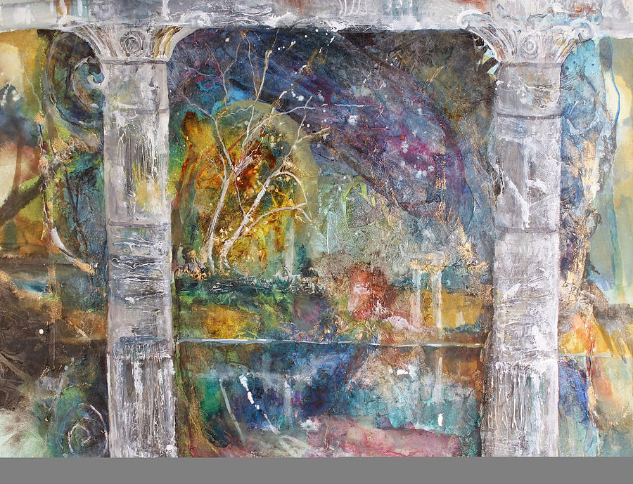 Mixed Media Painting - One Evening by Patricia Allingham Carlson