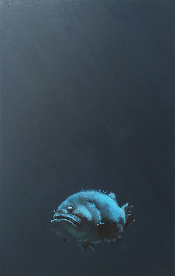 Grouper Painting - One Fish by Jeffrey Bess