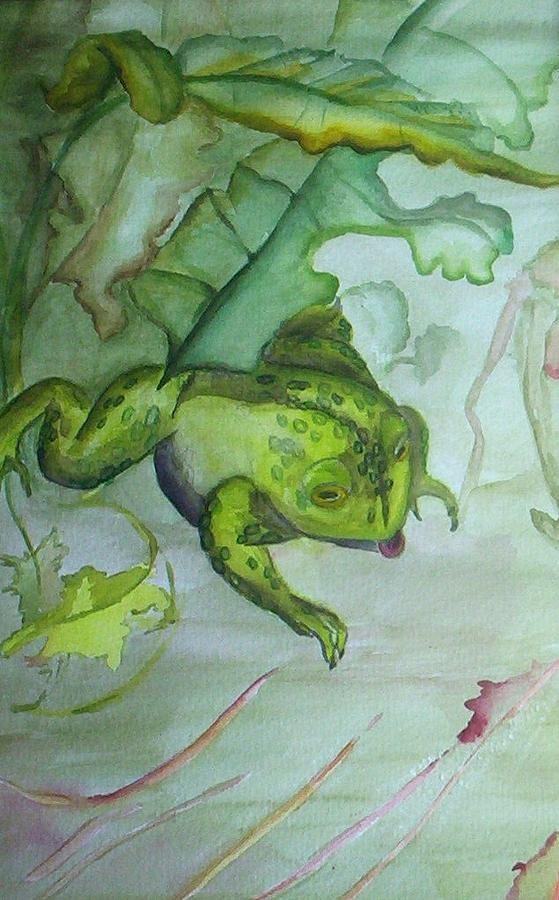 One Frog Painting by Georgia Annwell