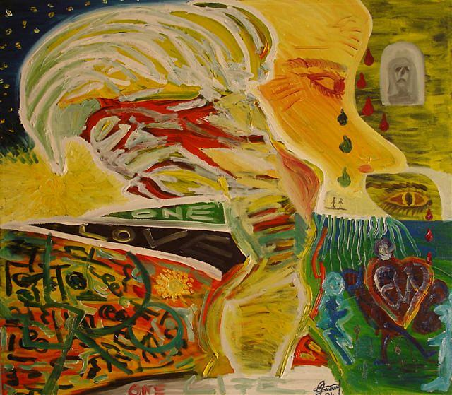 ONE Painting by Gunter  Tanzerel