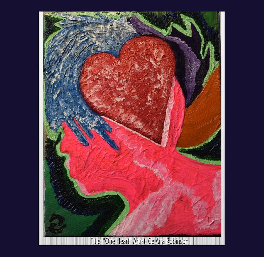 Heart Painting - One Heart by Ceaira Robinson