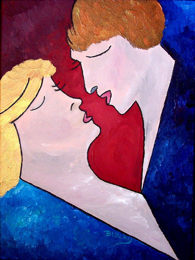 Man Painting - One Heart by Donna Blackhall