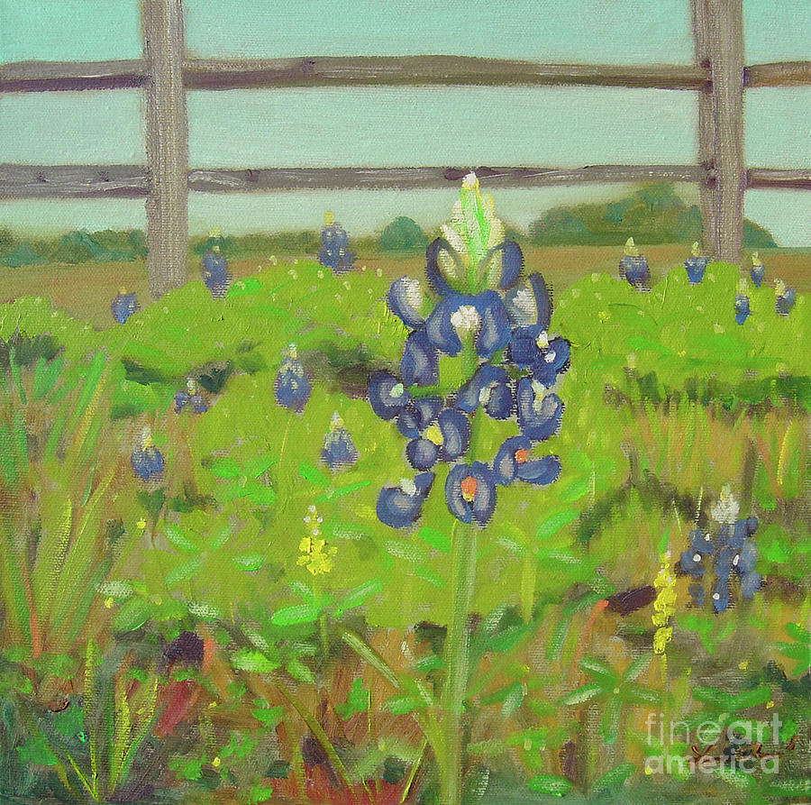 Bluebonnet Painting - One In A Crowd by Lilibeth Andre