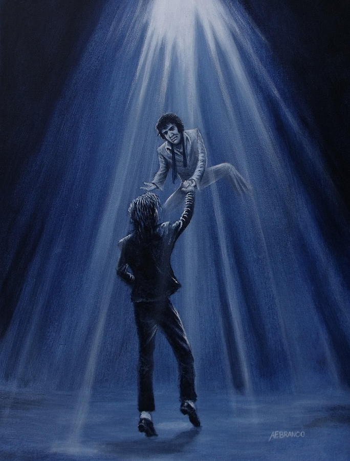 Michael Jackson Painting - One King To Another by Antonio F Branco
