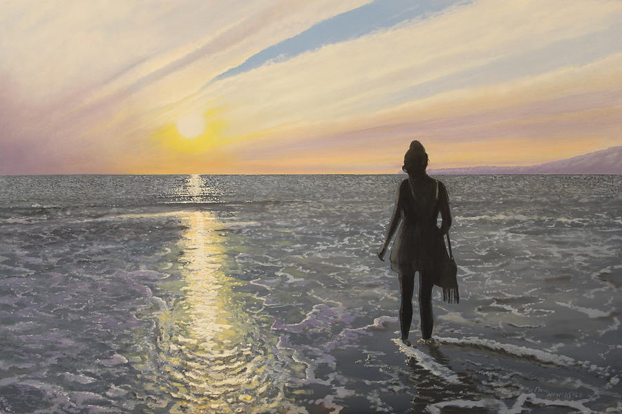 Sun Painting - One Last Paddle by Paul Newcastle