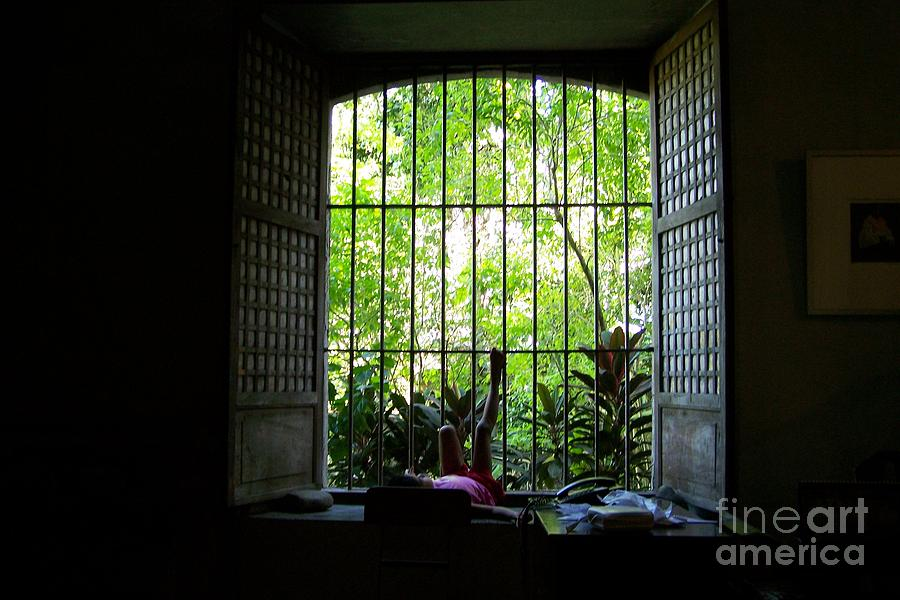 Window Photograph - One Lazy Sunday Afternoon By The Window by Dindin Coscolluela