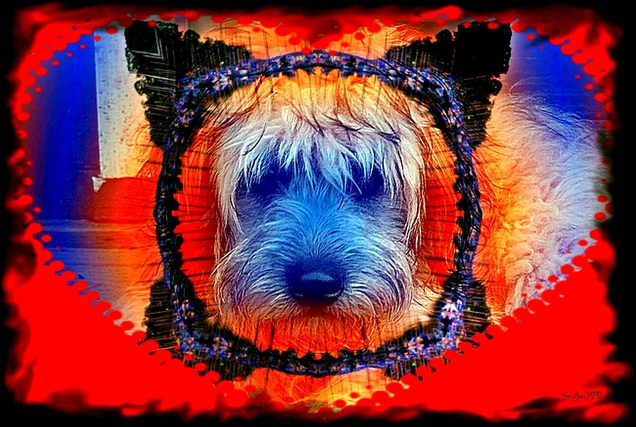 Dog Digital Art - One Little Indian by Robert Orinski